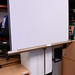 Projector screen on stand