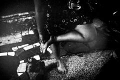 Shinjuku. (Davide Filippini ) Tags: people blackandwhite bw film feet monochrome japan night tokyo women shinjuku trix 400tx  kabukicho goldengai    leicam6          ultron28 davidefilippini m6 x   28