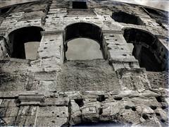Colosseum (Dale Michelsohn) Tags: colosseum rome italy blackandwhite monochrome architecture stone roman roma italia dalemichelsohn casio casioexz700
