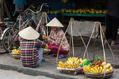 Asian vendor on a street in Hoi An (phuong.sg@gmail.com) Tags: amazing ancient asia asian beautiful clothes conical contemporary contrast culture cycle destination gowns hanoi hat hats heritage hoian indochina lanterns lifestyle old paper peaceful pedestrian people reflection rowing shopping tourism tourists town traditional travel vacation vendor vietnam vietnamese women worker