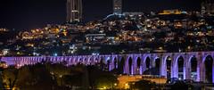 2016 - Mexico - Querétaro - Aqueducto 4 of 4 (Ted's photos - For Me & You) Tags: 2016 cropped mexico queretaro santiagodequeretaro tedmcgrath tedsphotos tedsphotosmexico vignetting nikon nikonfx nikond750 aqueduct aqueducto querétaroaqueducto aqueductoquerétaro nightscene nightlighting unesco unescoworldheritagesite