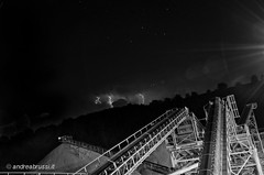 andreabrussi.it - thunderbolt 25 (Uploading in progress!) Tags: thunderbolt fulmine temporane notte impianti cava quarry plants night