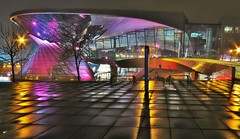 BMW Welt , Mnchen (adr.vesa) Tags: city cityscapes bmw bmwwelt mnchen munich bavaria bayern germany architecture buildings lights colors night wet rain canon