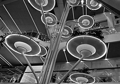 Out off space !! (jo.misere) Tags: shopping mall bw zw sw inside