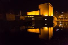 Auditorio (joseemiliogomez431) Tags: agua auditorio auditoriodegalicia auditoriodesantiago estanque galicia nocturna lago
