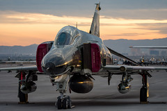 Pharewell (Josh Kaiser) Tags: 741638 82ndatrs f4 holloman qf4 qf4e usaf phantom phinal last flight aviationnation nellis airforce drone f4e rhino sunset evening sundown fighter jet military aircraft