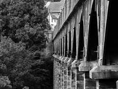 Pontcysyllte's arches (llocin) Tags: aquaduct viaduct monochrome pontcysyllte pontcysyllteaquaduct architecture telford thomastelford history victorian