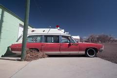 Ambulance (Curtis Gregory Perry) Tags: greenriver ambulance utah pontiac 1970 fire station emergency vehicle automobile doctor medical superior coach nikon d800e car