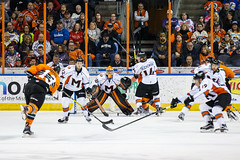 "Missouri Mavericks vs. Quad City Mallards, December 31, 2016, Silverstein Eye Centers Arena, Independence, Missouri.  Photo: John Howe / Howe Creative Photography • <a style=""font-size:0.8em;"" href=""http://www.flickr.com/photos/134016632@N02/31972633501/"" target=""_blank"">View on Flickr</a>"
