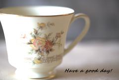 Have a good day! (C. VanHook (vanhookc)) Tags: china noritake westport coffeecup