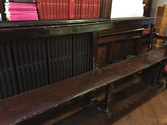 Bench from the original Foundery (Matt From London) Tags: johnwesley wesleyshouse methodism foundery foundry bench