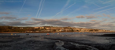 Touching the blue (Ollie_57.. on/off) Tags: landscape panorama pano view sky water river estuary blue buildings town semirural bridge reflections photostitch canon ef24105mm 7d winter 2017 jan ringmore shaldon westcountry devon england uk affinityphoto ollie57 saariysqualitypictures