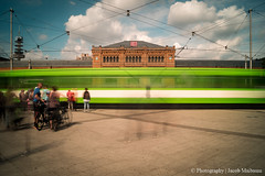 Tram smearing past Hannover Maintrainstation (jacob.maibaum) Tags: 082016 2016 august august2016 hannover lzb ndfilter strasenbahn üstra sony sonyalpha sonyalpha58 sonyarw alphadicted alphadict manfrotto tram lightroom photographyjacobmaibaum photooftheday