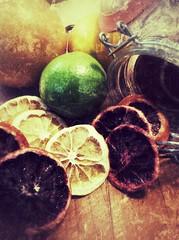 (Prosecco Thyme) Tags: color pantrystaples stilllife sour mason jar art food lime lemon green yellow orange citrus dehydrated fruit