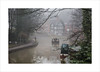 A morning walk (andyrousephotography) Tags: worsley packethouse narrowboats barge barges pleasure cruise bridgewater canal walker dog iron footbridge mist misty fog damp water still andyrouse canon eos 5d mkiii