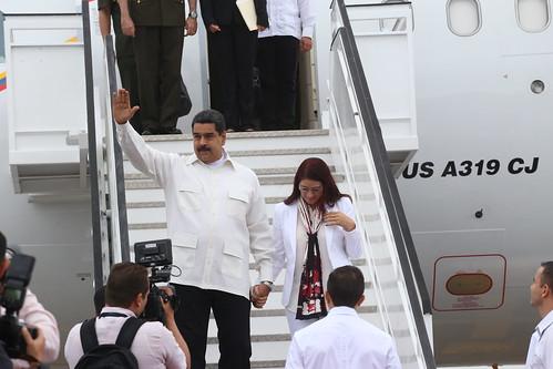 Nicolás Maduro llega al país para integrarse a trabajos V Cumbre CELAC (VIDEO)