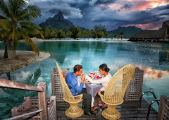 Just an Romantic dinner Bora Bora style 😍💏✈🌞 Le Méridien Bora Bora (BoraBoraPhotosVideos) Tags: borabora island paradise southpacific sun beach sunrise amazing dream holydays beautiful bestvacations photooftheday picoftheday photodujour wedding tahiti polynesian edouardott