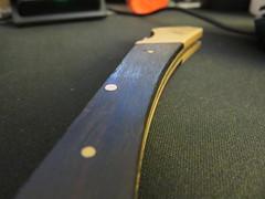 Closeup of my Unboxing Knife (retepmorton) Tags: macromondays desk unbox unboxing knife blade handle