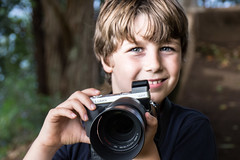 Young photographer (koalie) Tags: 2015wintervacation adrien hi hawaii portrait usa waipiovalley camera vacation waimea unitedstates us
