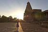 Brihadeeswara Temple (Jean Coquet) Tags: sunset temple india girl contrast silhouette hindu sun thanjavur tamil bright child tamu tamul kids light sunlight trip theindiatree