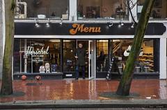 What's On The Menu (Clayton Perry Photoworks) Tags: vancouver bc canada downtown gastown rain explorebc explorecanada sign menu