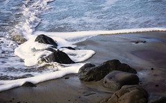 Rocks and Riffles (San Francisco Gal) Tags: pfeifferbeach pacificocean water bigsur rock sand foam ngc npc