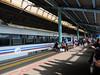 stasiun Juanda (sawungtaksaka) Tags: stasiun juanda statiion jakarta evening shadow eki people passanger blue biru malam bima
