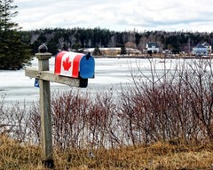 Oh Canada (DASEye) Tags: davidadamson daseye olympus canada novascotia ns mahonebay mailbox winter lake frozen ice snow