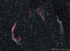 El velo (Alfredo Madrigal) Tags: sky veil nebula astrophotography astrofotografa astronomy velo nebulosa astronoma nebulosity astrofoto nebulosas