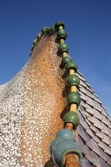 Casa Battl (Rolandito.) Tags: roof espaa rooftop de casa spain gaudi catalunya espagne antoni passeig spanien grcia katalonien battl