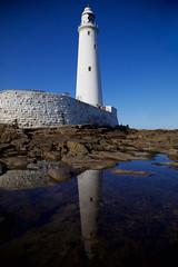 IMG_7641 (Br Joseph Bailham, O.P.) Tags: ocean sea lighthouse reflection water newcastle coast waves stmaryslighthouse