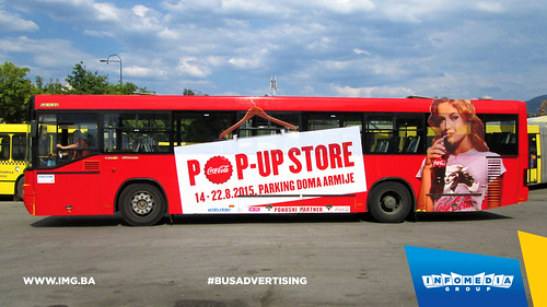 Info Media Group - Coca-Cola pop up store, BUS Outdoor Advertising, Sarajevo 08-2015 (1)