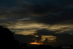 End of another day! (AnJoy Pics) Tags: sunset sky cloud sun sunlight india rooftop dark nikon cloudy dusk filter polarizer kolkata cpl circularpolarizer hoya westbengal 50mmprime 18g d5200