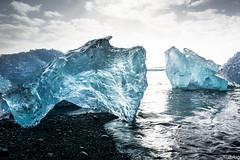 Jokulsarlon - Beach (iFunphotog) Tags: ice beach coast iceland south glacier iceberg blacksandbeach jokuslarlon