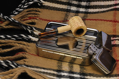 Smoking Pipe (sword.92) Tags: life light wool scarf studio fire photography photo still corn cigarette pipe tent smoking cube lighter checkered holder corncob tabacco accendino