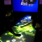 3Dインタラクティブメディア展示装置の写真