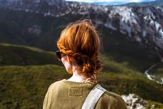 (bekkabird) Tags: blue portrait green landscape back nikon pass canyon berge aussicht sardinien gebirge sonnenschein freiheit gorropu turnedback kontraste bergwelt