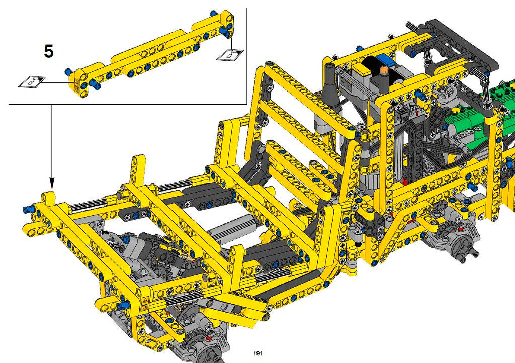 Lego Technic Articulated Dump Truck Instructions