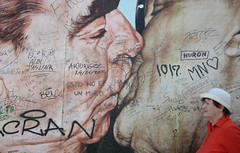 Berlin Wall (nicnac1000) Tags: berlin art wall germany deutschland graffiti kiss kissing wallart communist german berlinwall ddr russian gdr thekiss eastberlin mauer honecker brezhnev