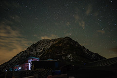北岳肩の小屋 (deletio) Tags: sky mountains japan night clouds stars yamanashi 2015 北岳 yamanashiken akaishi mtkitadake d700 nikkornc24mmf28 minamialpsshi