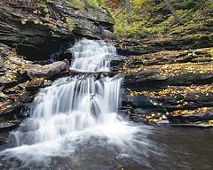 (Matt Allouf) Tags: park color 120 film waterfall 645 state kodak glen bronica 400 medium format expired portra vc pennsylvannia ricketts etrsi epsonv500
