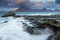 Elgol, Isle of Skye (James Shooter) Tags: longexposure november autumn sea seascape storm mountains skye sunrise landscape island coast scotland rocks moody isleofskye stormy cuillins hebrides elgol