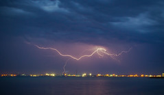 Bolt over Geelong (Trace Connolly Photography) Tags: storm victoria lightning avalon geelong avalonbeach