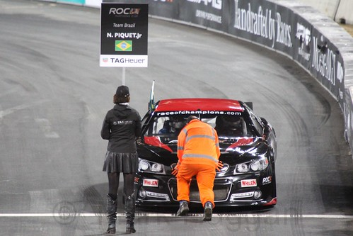 Nelson Piquet Jr in The Race of Champions, Olympic Stadium, London, November 2015