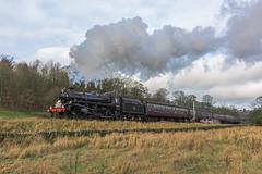 Santa Specials (4486Merlin) Tags: england europe unitedkingdom transport steam signals northeast railways westyorkshire haworth gbr keighleyworthvalleyrailway santaspecials heritagerailways 75078 exbr brstd4mt460