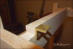 Table Top Bracket (Jeannot7) Tags: wood bracket workshop brass redoak woodworking sidetable tenonmortise