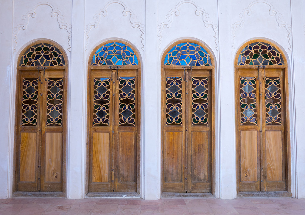 wooden doors inside aghazadeh mansion Fars Province Abarkooh Iran (Eric Lafforgue) & The World\u0027s Best Photos of door and persian - Flickr Hive Mind