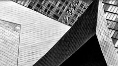 Architectural Building Abstract #10 (Matt Anderson Photography) Tags: city travel sky usa white abstract black reflection geometric window horizontal architecture facade skyscraper outdoors photography mono design weird day pattern apartment angle lasvegas geometry steel balcony nevada shapes nopeople monotone illuminated growth ledge fullframe multicolored development slanted girder obtuse glassbrick acute bwimage traveldestinations mattanderson digitalcomposite buildingexterior populationexplosion builtstructure clarkcountynevada glassmaterial wallbuildingfeature