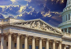 Washington Dc ~ United State Capitol ~ Historic Building (Onasill ~ Bill Badzo) Tags: old travel sunset sky usa building monument architecture clouds vintage greek virginia hall us photo dc washington site md outdoor district pano style maryland columbia tourist panoramic scan congress va dome classical rays register rotunda drama tours pediment capitolhill attraction nrhp unitedstatecapitol caoitolhill onasill
