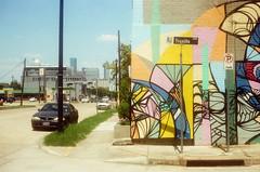 44990022 (alexdotbarber) Tags: color analog 35mm mural rangefinder f8 kodakgold100 1250 expiredfilm colorfilm colornegative petri7s houstonstreetart 45mmf28 danielanguilu